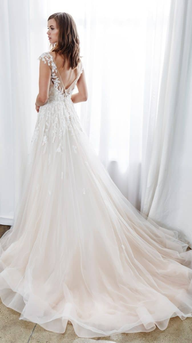 low back blush ballgown embroidered bridal gown aubrey by kelly faetanini