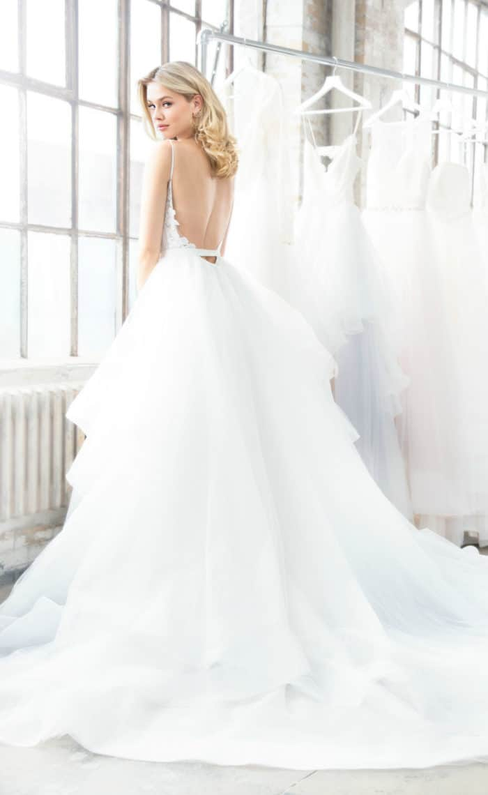 Nessy by Blush by Hayley Paige Tiered ballgown wedding dress