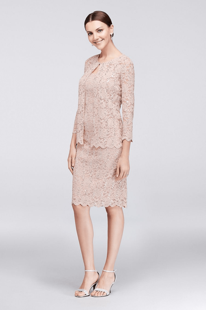 511ab0d8eaa short blush lace mother of the bride dress with jacket