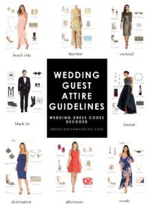 wedding guest attire guidelines dress codes