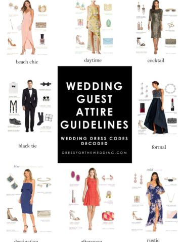 wedding guest attire guidelines dress codes