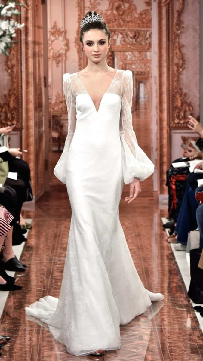 Long sleeve wedding gown Theia 2019 Caroline