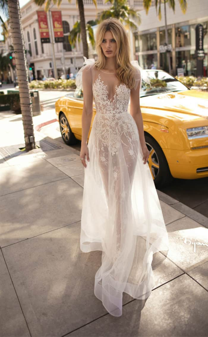 sheer lace wedding dress muse berta 2019