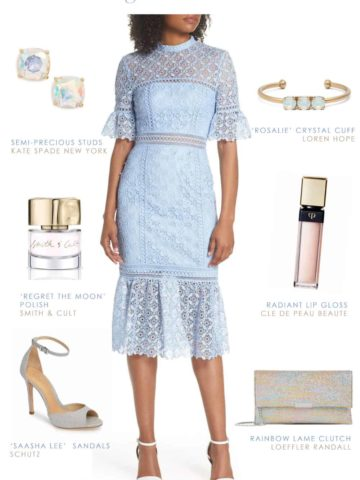 Light Blue Lace Dress - Outfit for a Wedding Guest