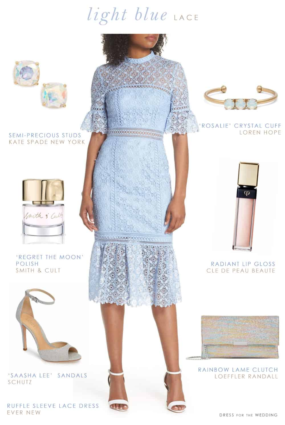 Light blue lace dress for a wedding guest dress for the for Blue dress for a wedding guest