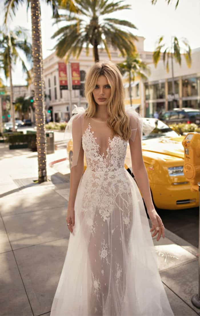 Sheer lace wedding gown MUSE by Berta 2019 City of Angels