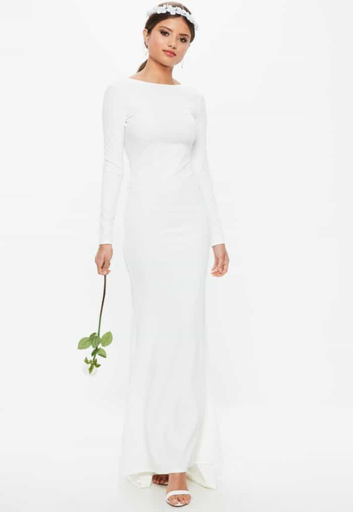 long sleeve wedding dress just like meghan markle only 60 dollars
