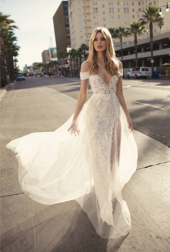Off the Shoulder Designer Bridal Gown 2019 MUSE by Berta