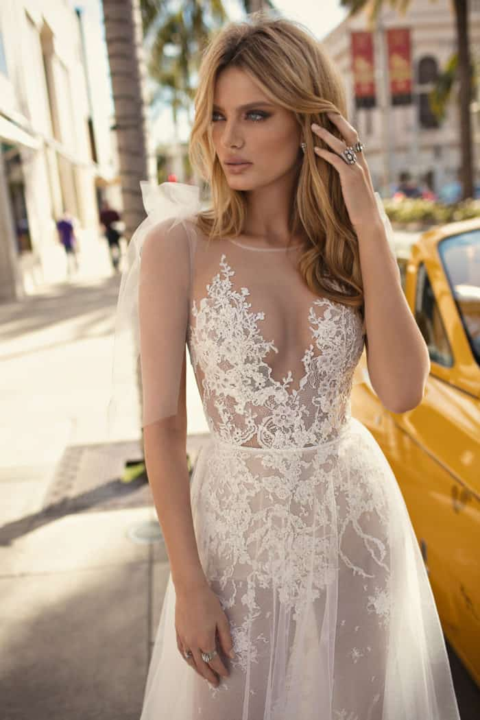 Nude wedding dress MUSE by Berta designer wedding dresses