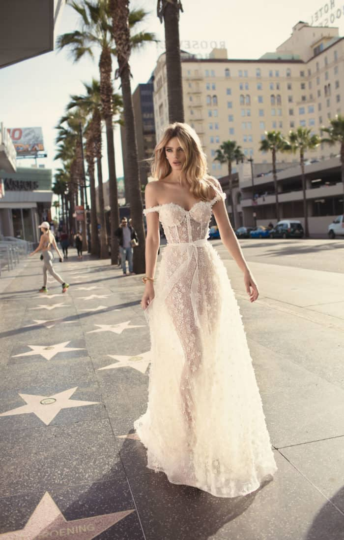 off the shoulder muse wedding dress 2019