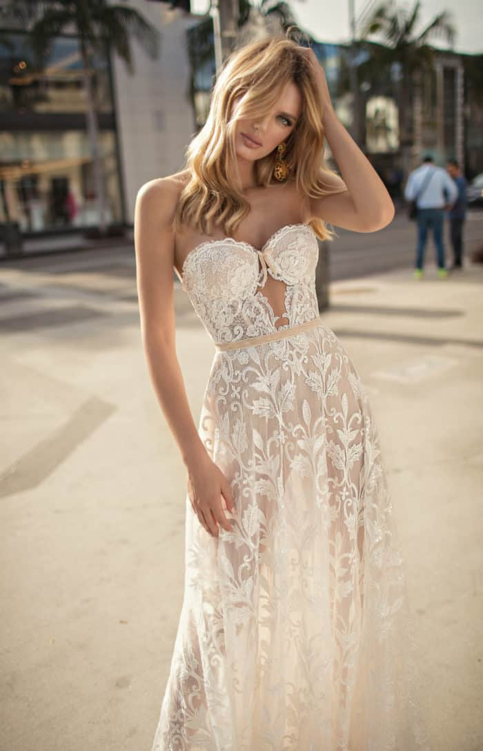 sheer strapless lace muse berta wedding dresses 2019