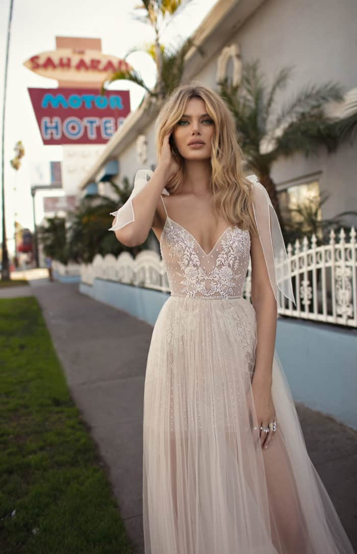 sheer wedding dress muse berta wedding dresses 2019