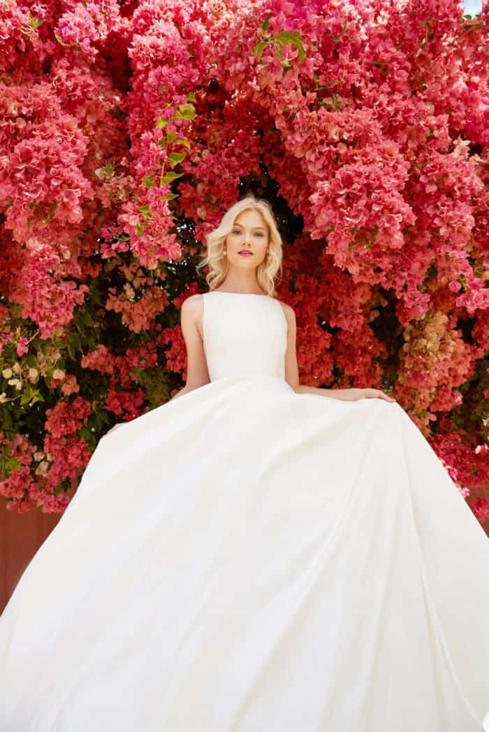 Ashton modern ball gown wedding dress