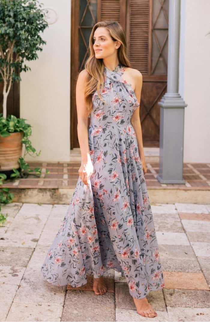 Light blue floral maxi dress | Ella Dress Gal Meets Glam Collection