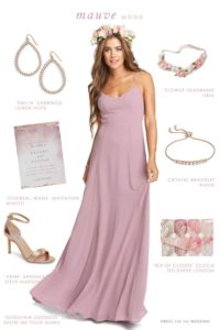 Mauve Maxi Dress for Bridesmaids