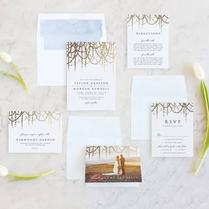 Pearl Wedding Invitations from Minted
