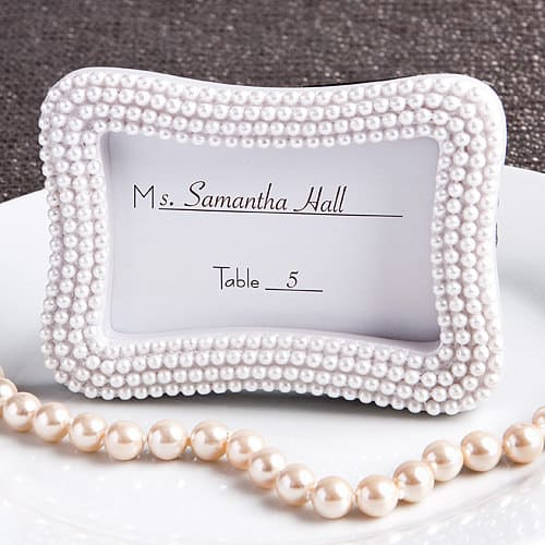 pearl frame for wedding placecards