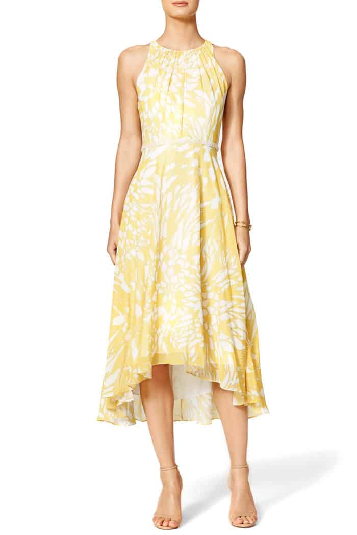 pretty yellow dress to rent for a daytime wedding