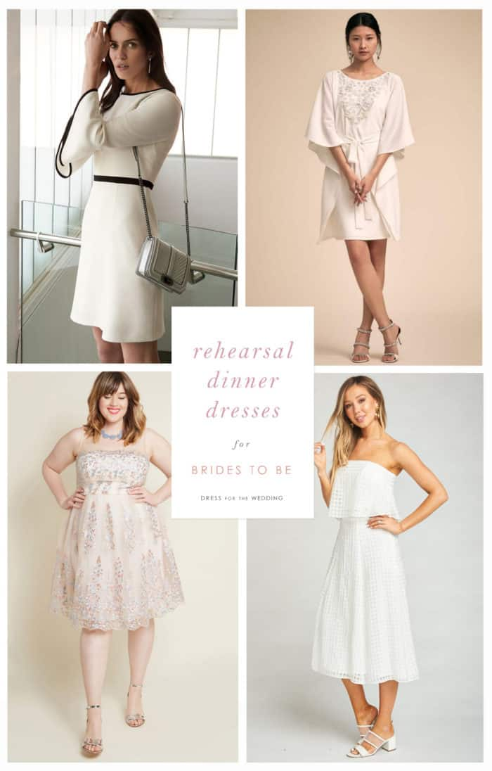 white dresses for rehearsal dinner dresses for bride to be