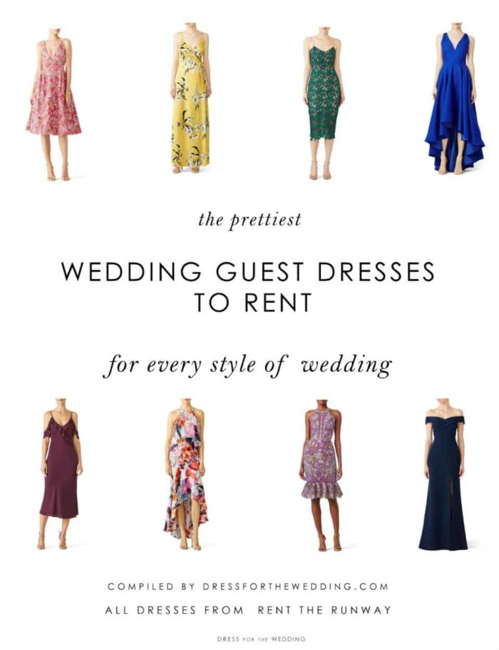 best dressses to rent for a wedding guest