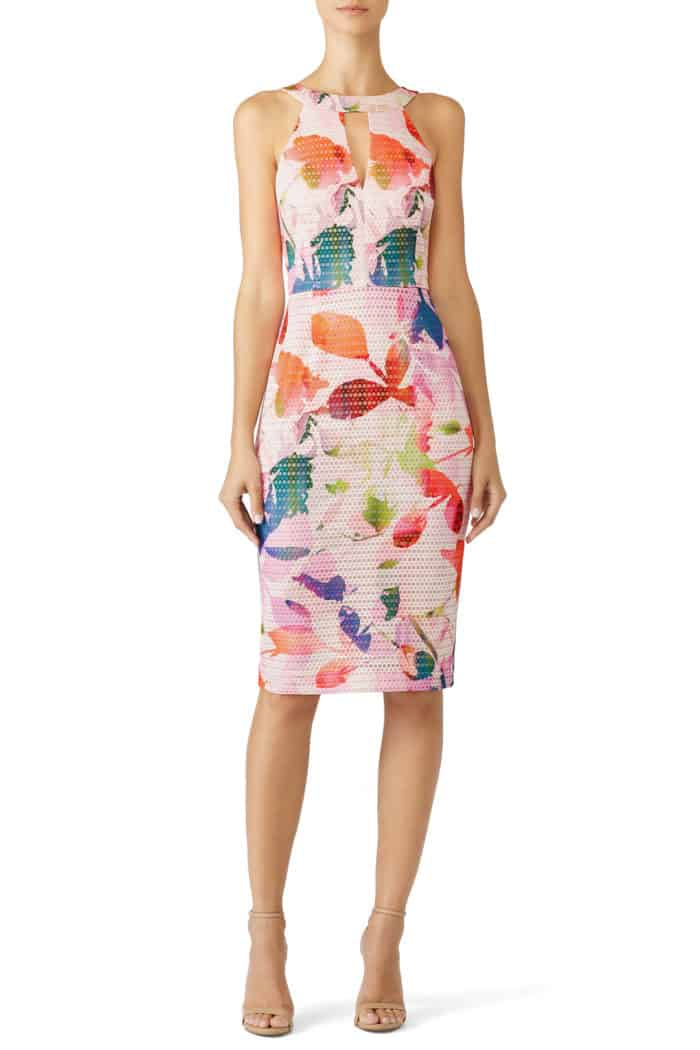 casual floral print dress for summer beach wedding