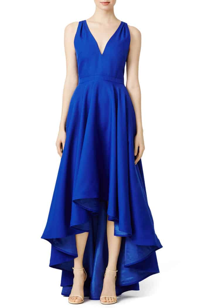 cobalt blue formal gown wedding guest