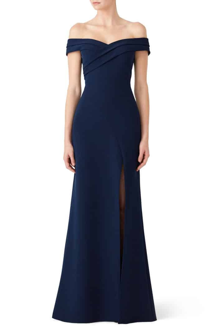 Classic dress to rent for black tie wedding