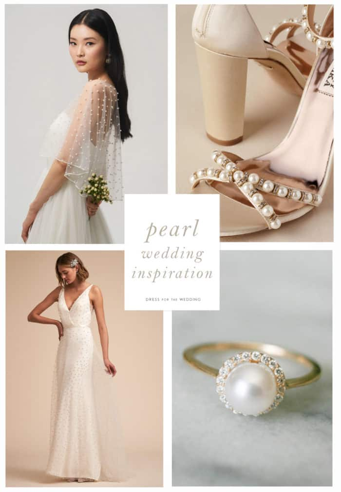 pearl wedding decor and attire
