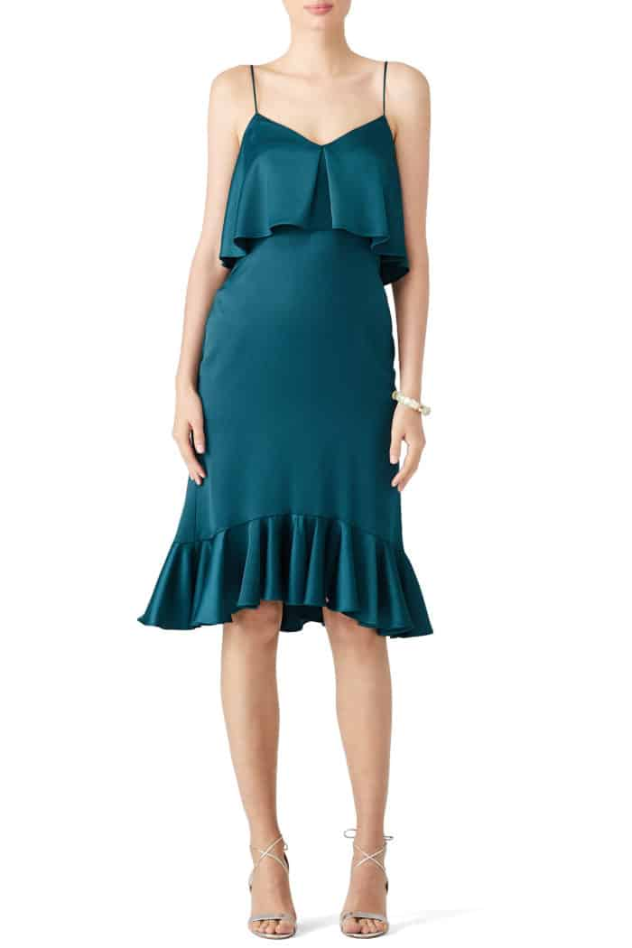 teal strappy dress for wedding