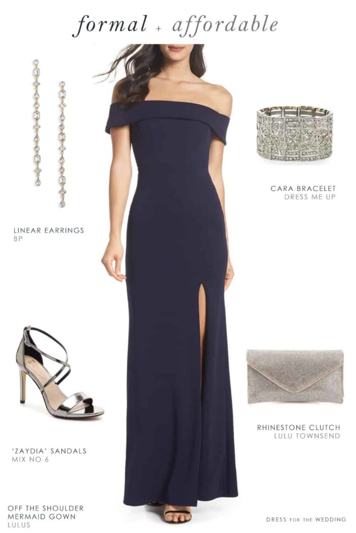 Affordable Dresses for Black Tie Weddings and Events
