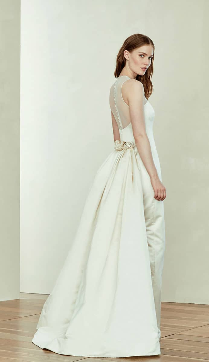 Amsale wedding dresses style a101 illusion neckline wedding dress