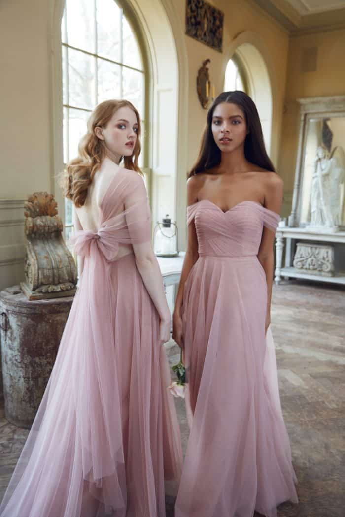 Blush tulle bridesmaid dreses by Jenny Yoo