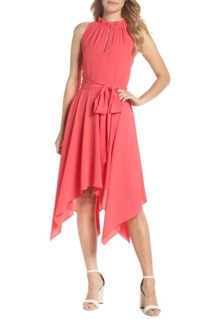 Coral dress to wear to an August wedding