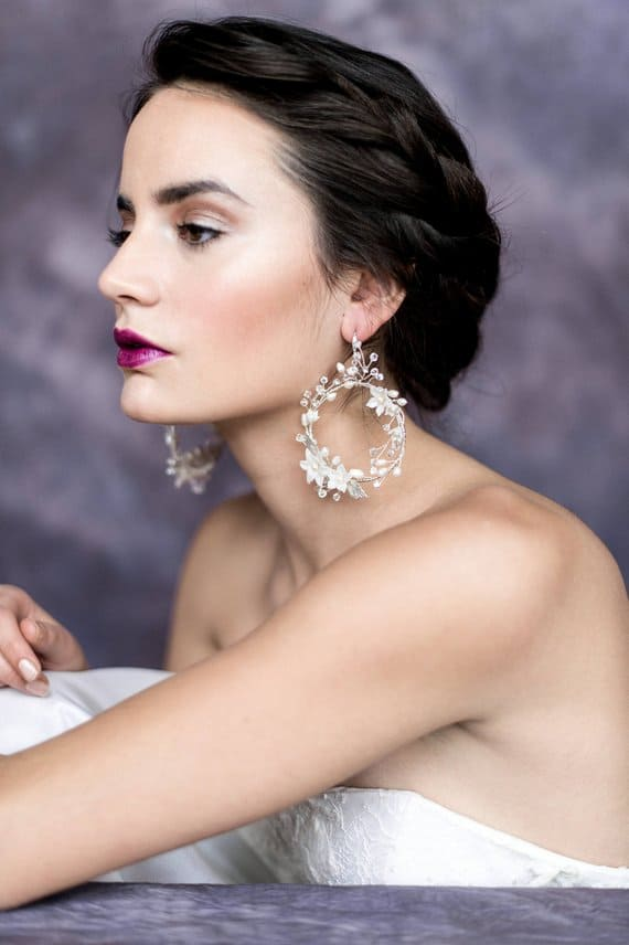 Unique bridal earrings