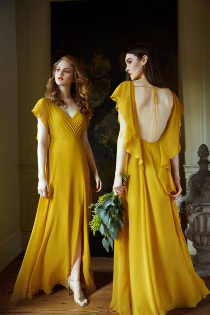 Golden bridesmaid dresses Alanna by Jenny Yoo