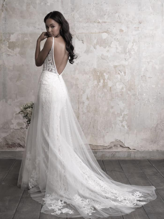 Open back wedding dress with beaded sides | Style MJ451B by Madison James