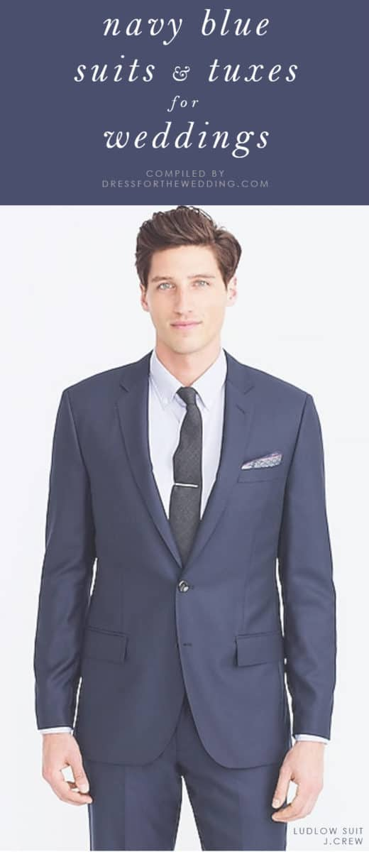 Navy blue suits blazers tuxedos weddings