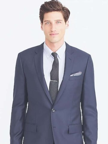 Navy blue suit for a wedding