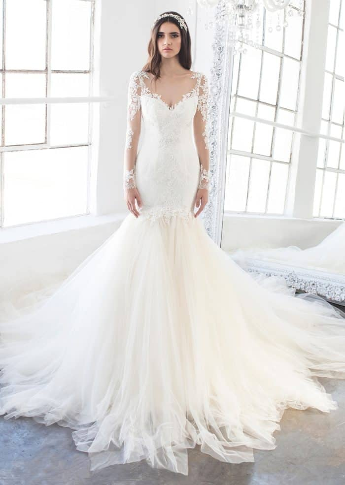 Everly long sleeve mermaid wedding dress
