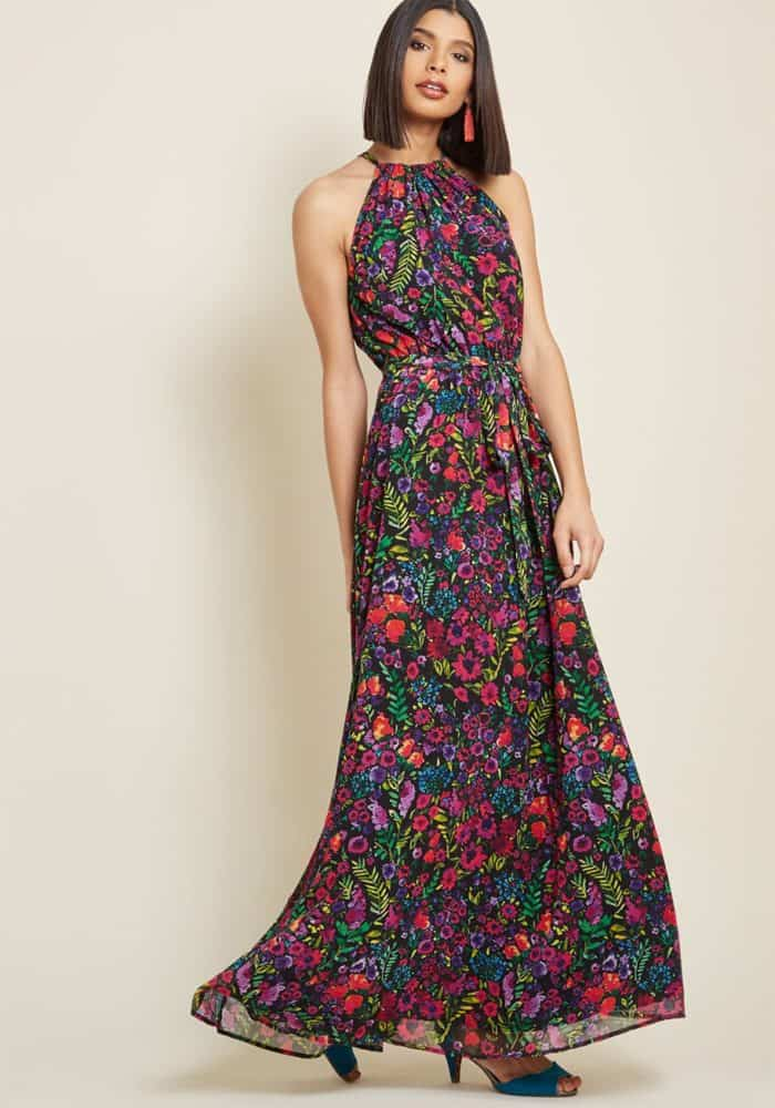 maxi dress for a wedding guest to wear 2018 fall