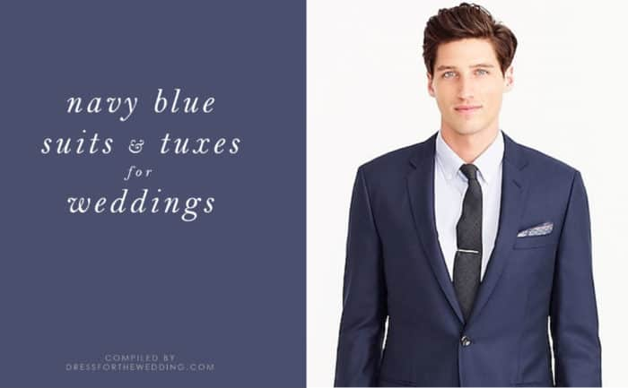Navy Blue Suits, Tuxes, and Blazers for a Wedding | Dress for the ...