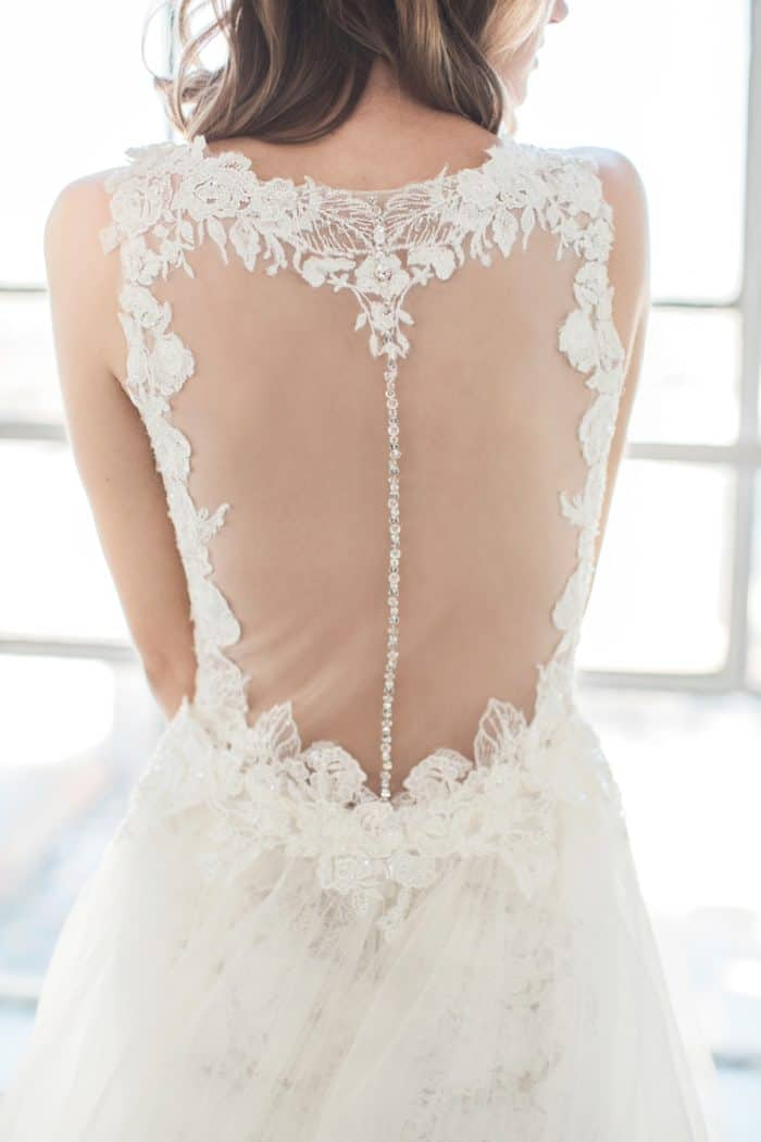 Illusion back wedding dress by Winnie Couture