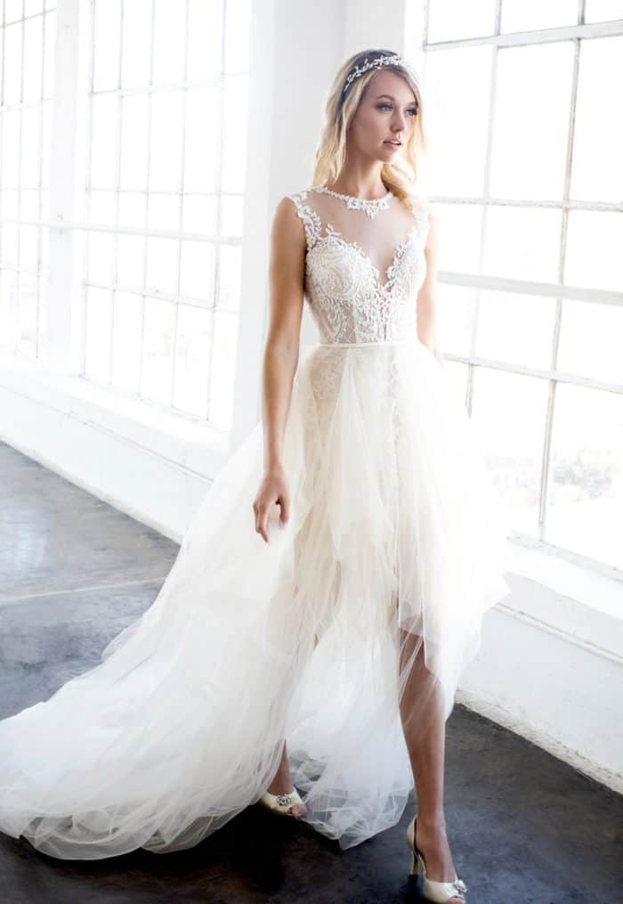 Piper wedding dress by Winnie Couture Blush