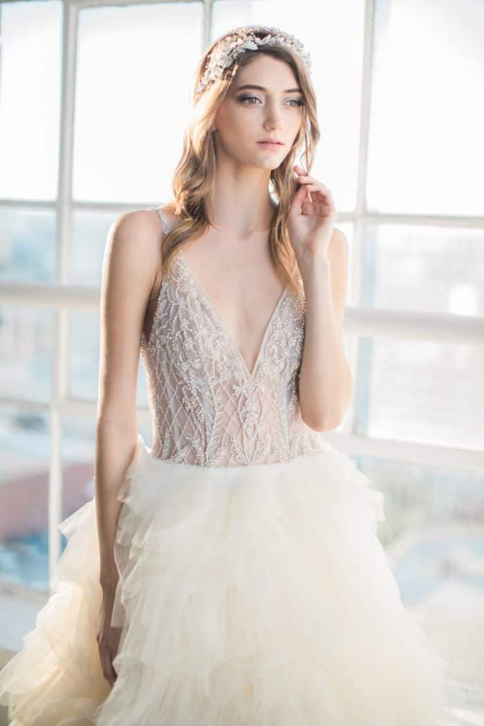 Beaded ballgown wedding dress Londyn gown by Winnie Couture