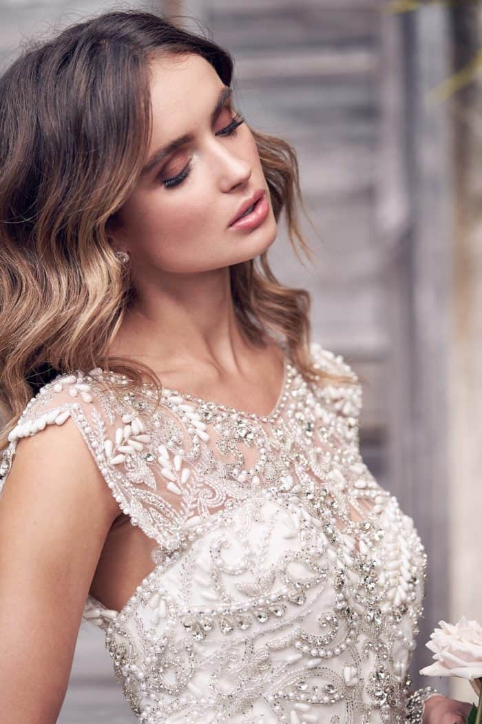 Beaded Anna Campbell wedding dresses 'Aria' gown