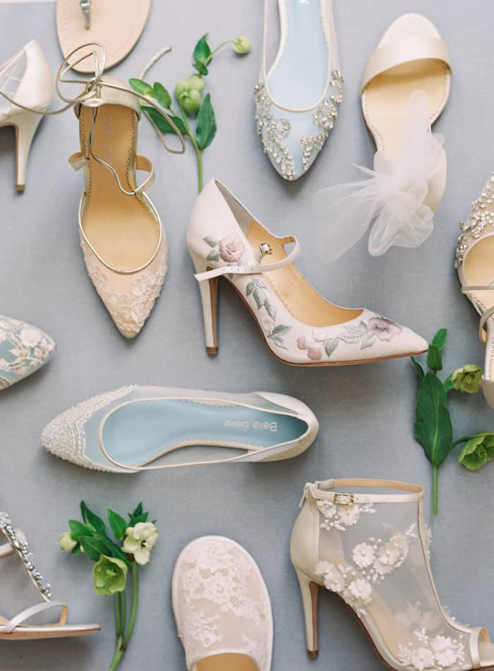 Beautiful handmade wedding shoes by Bella Belle