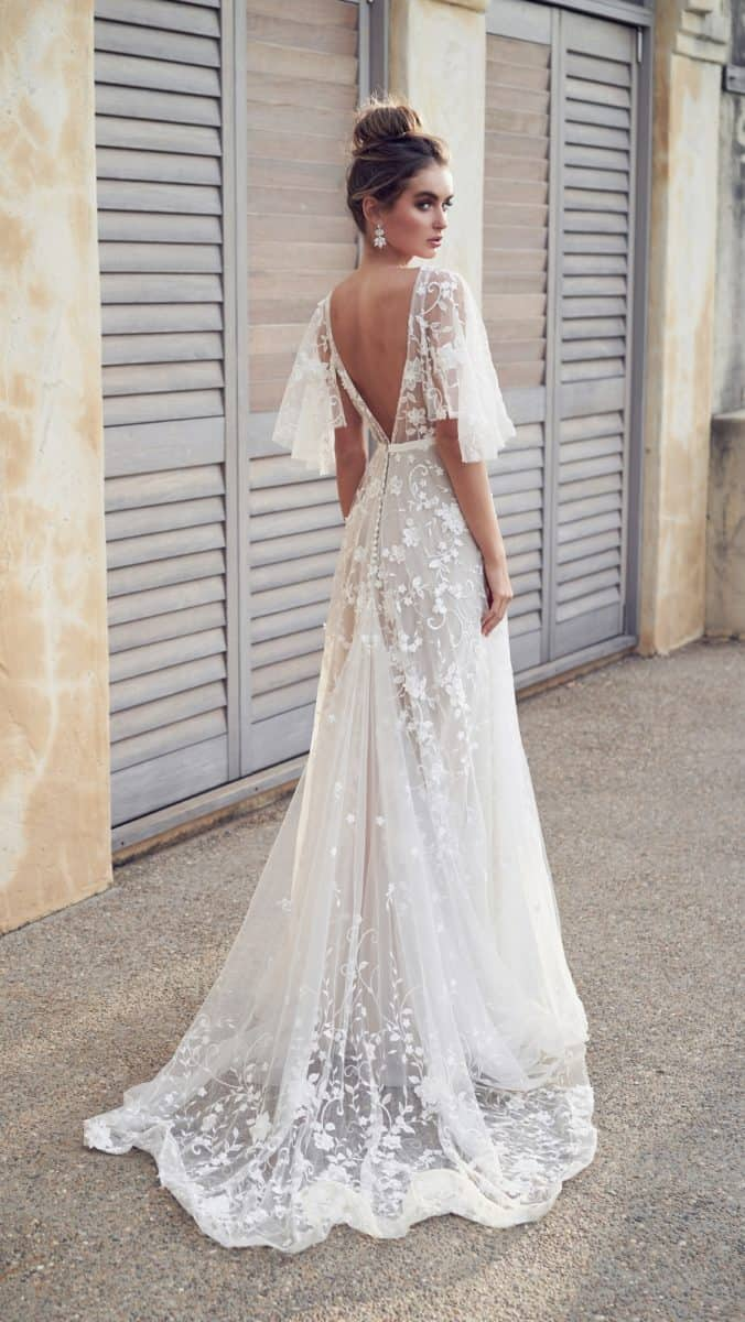 Open back wedding dress | Amelie by Anna Campbell