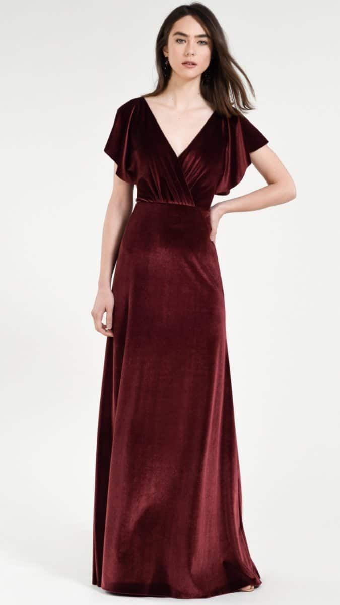 Velvet bridesmaid dress | Fall 2018 Jenny Yoo