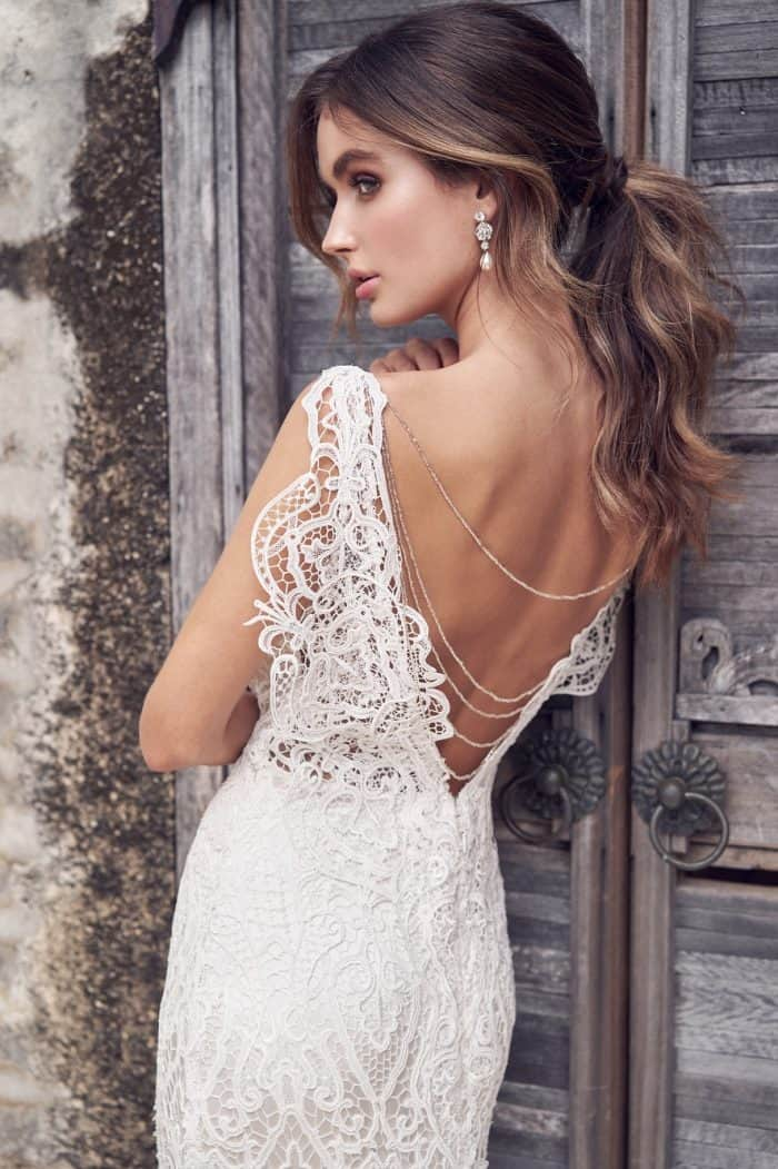 Kira Dress lace open back wedding dress by Anna Campbell