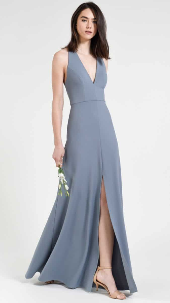 Margo Jenny Yoo bridesmaid dresses in Mayan Blue